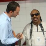 Con Stevie Wonder - 2008